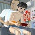 【3Dエロアニメ js】遊びに来る小学生二人に性的いたずらするロリコン