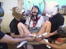 【JCロリ あべみかこ】復讐相手の中学生の娘を陵辱し撮影する鬼畜集団