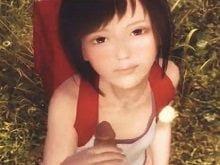 スカイリムの世界でランドセル背負った小学生とロリコンオヤジが青姦。JSの表情がなんとも言えない。パイパンでそこそこ膨らんだ胸の美少女JSと青姦する3Dエロアニメ。