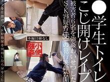 JSがおしっこしているトイレをこじ開けレイプ中出しする鬼畜ロリコン。その様子をハンディカメラで撮影する鬼畜ぶり。貧乳パイパンの小学生をレイプするAV(アダルトビデオ)。