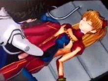 【3Dエロアニメ 中学生】寝ているアスカをレイプ&アスカの女王様プレイ