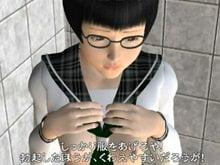 【3Dエロアニメ JC ロリ】メガネ中学生を駅のトイレでレイプ