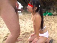 【JS】浜辺で小学生の義理の娘とセックスする義父。無料JSエロ動画。