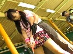 朝香涼】ゴルフのレッスンで小学生ジュニアが中出しレイプされる