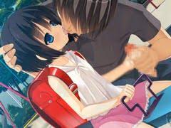 公園のシーソーで、ロリコンが女子小学生にベロチューしながらチンコをしごいてもらっている