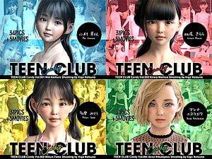【3Dエロアニメ JSJCロリ】TEEN CLUB Candy 001-004総集編:小学生や中学生のJrアイドルが犯られる。無料JSJC3Dエロアニメ。