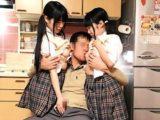 【JCロリ】チビ巨乳の中学生二人とソープごっこ。Wパイパン【長編】