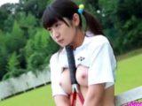 【着エロ ロリ 河西佑菜】美巨乳JKがマ○コ弄られる過激イメージビデオ